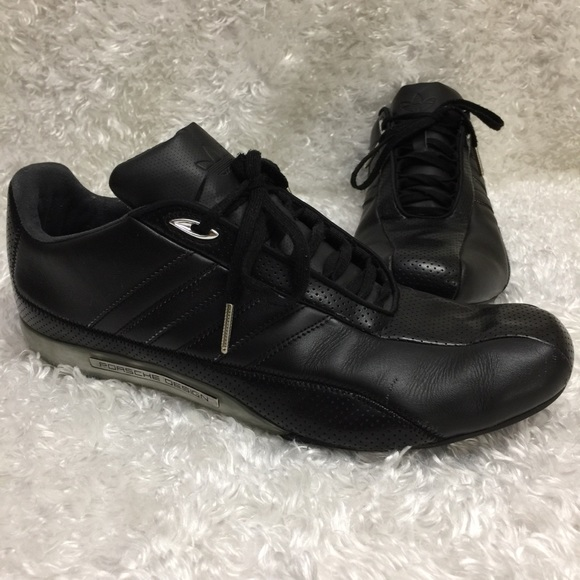 new style adc31 dc022 Adidas Porsche Design Leather Driving Shoes Z116
